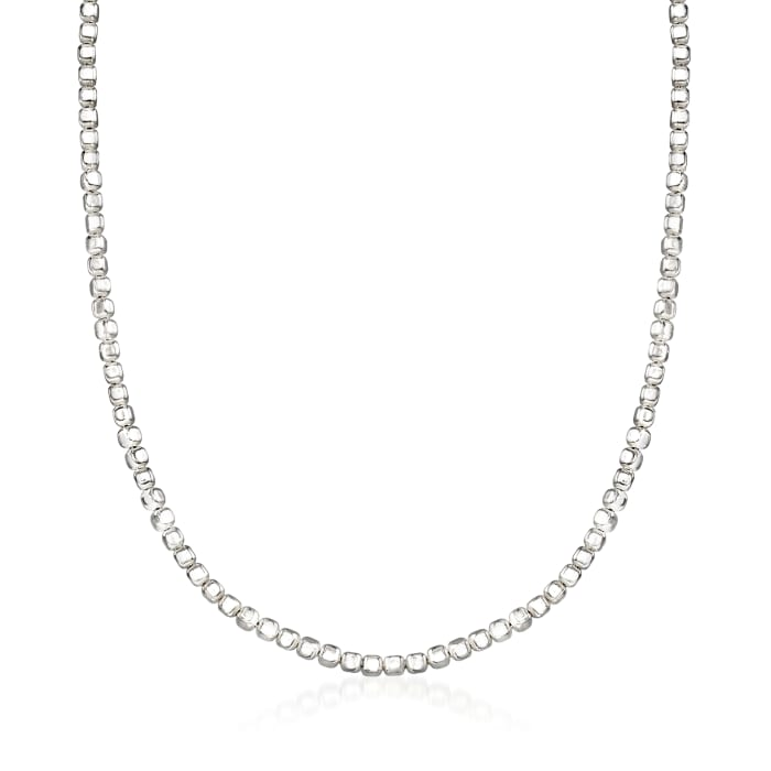 """Zina Sterling Silver """"Ice Cube"""" Chain Necklace"""