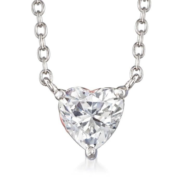1.51 ct. t.w. Swarovski CZ Heart Necklace in Sterling Silver