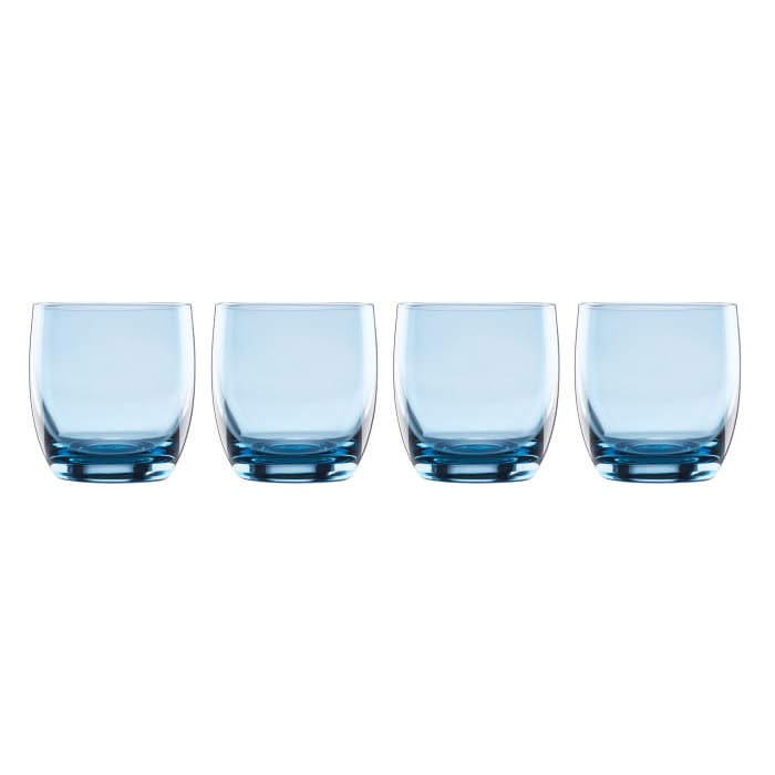 "Lenox ""Valencia"" Set of 4 Blue Double Old-Fashioned Glasses"