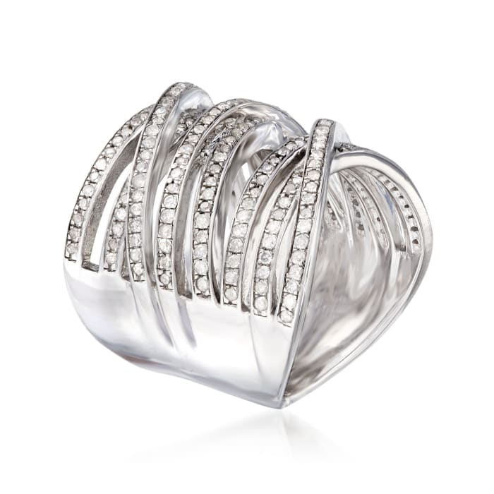 1.00 ct. t.w. Diamond Highway Ring in Sterling Silver