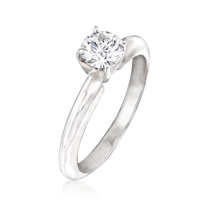 .55 Carat Certified Diamond Solitaire Ring in 14kt White Gold