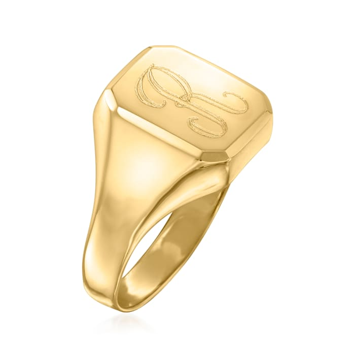 14kt Yellow Gold Personalized Signet Ring