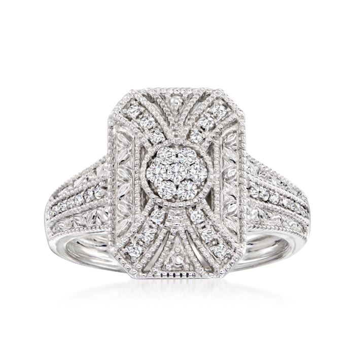 .50 ct. t.w. Diamond Scrollwork Ring in Sterling Silver