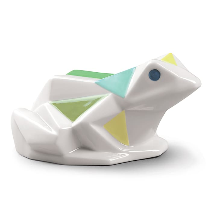 "Lladro ""Origami"" Frog Porcelain Figurine"
