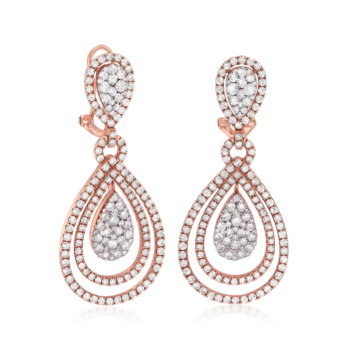 6.82 ct. t.w. Diamond Teardrop Earrings in 14kt Yellow Gold