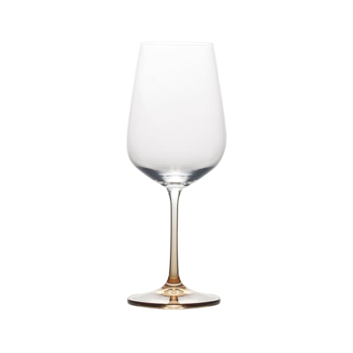 "Mikasa ""Gianna"" Set of 4 Ombre Amber White Wine Glass"