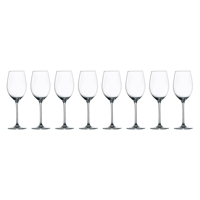 """Waterford Crystal """"Marquis Moments"""" Set of Eight White Wine Glasses"""