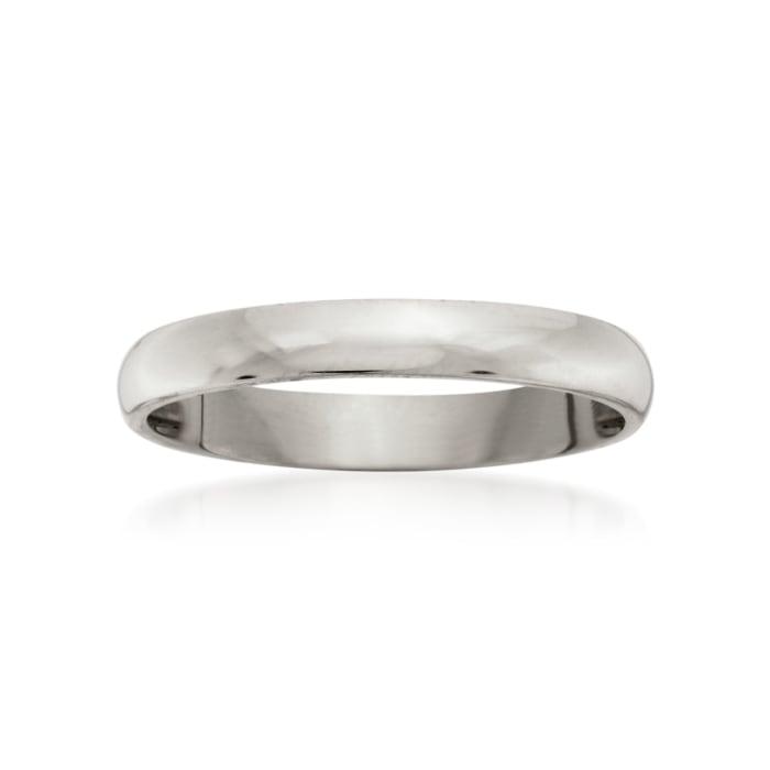 Women's 3mm 14kt White Gold Wedding Ring