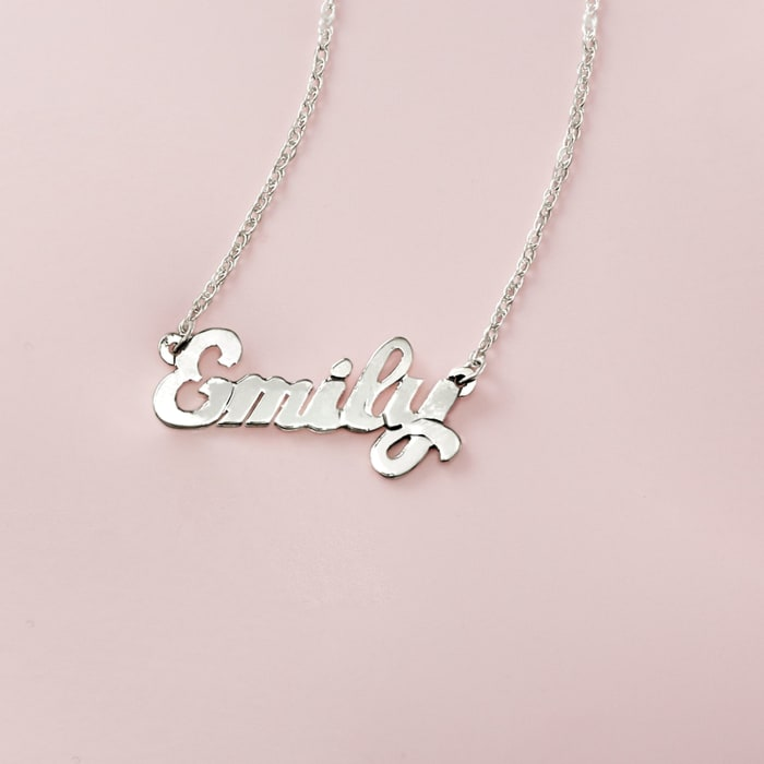 Child's Sterling Silver Script Name Necklace