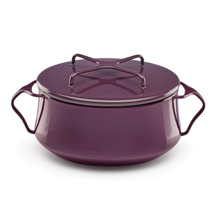 """Dansk """"Kobenstyle"""" Plum Small Casserole Pot with Lid"""