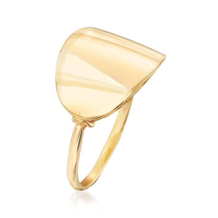Italian 14kt Yellow Gold Polished Ring