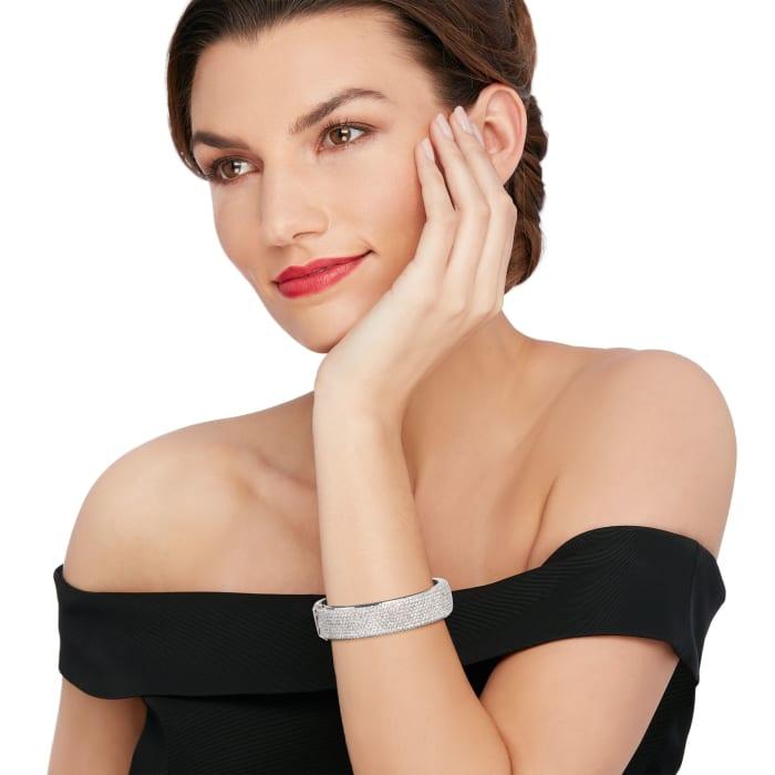 11.00 ct. t.w. Diamond Bangle Bracelet in 18kt White Gold