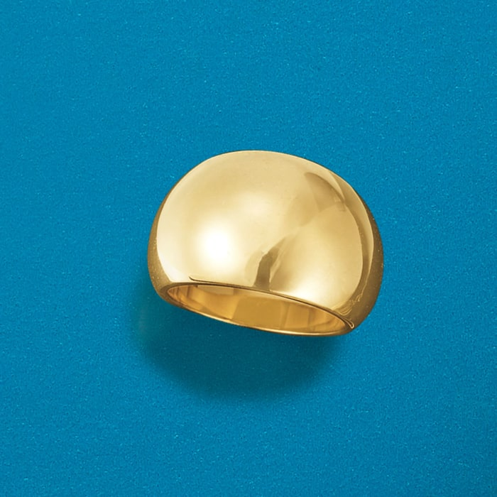 Andiamo 14kt Yellow Gold Over Resin Dome Ring