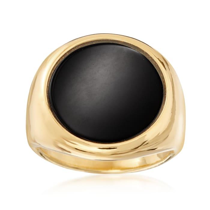 Italian Andiamo 14kt Yellow Gold Black Onyx Ring