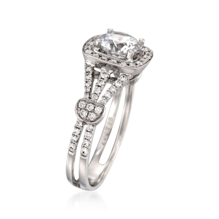 Simon G. .39 ct. t.w. Diamond Engagement Ring Setting in 18kt White Gold