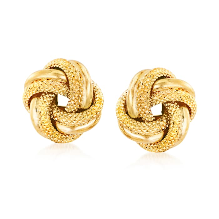 Italian 18kt Yellow Gold Love Knot Earrings