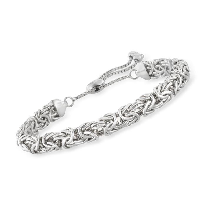 Sterling Silver Byzantine Bolo Bracelet