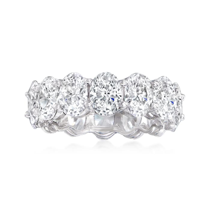 10.00 ct. t.w. CZ Eternity Ring in Sterling Silver