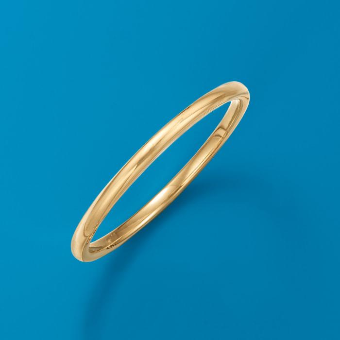 Italian Andiamo 14kt Yellow Gold Over Resin Bangle Bracelet