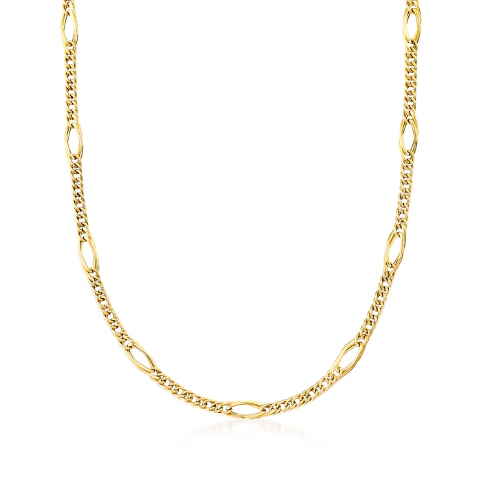 Italian 14kt Yellow Gold Multi-Link Necklace