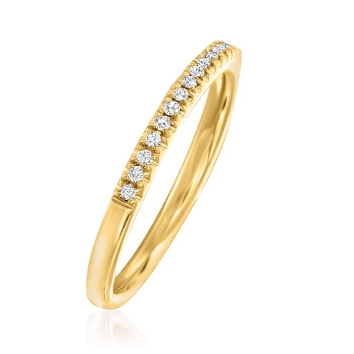 Henri Daussi .15 ct. t.w. Pave Diamond Wedding Ring in 18kt Yellow Gold
