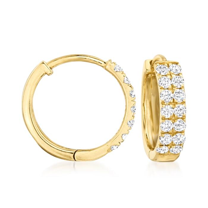 .33 ct. t.w. Diamond Huggie Hoop Earrings in 14kt Yellow Gold