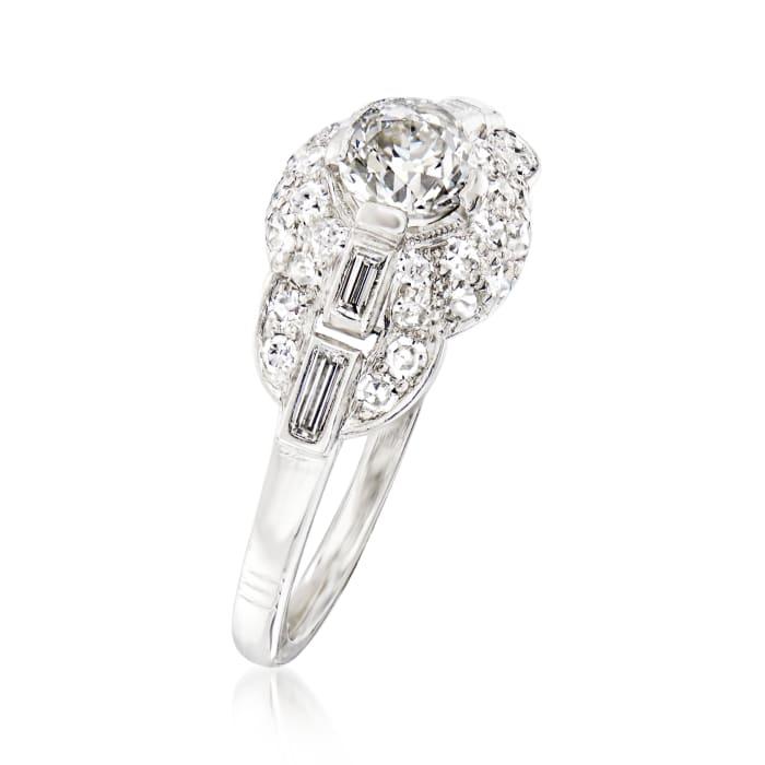 C. 1950 Vintage .90 ct. t.w. Diamond Ring in Platinum