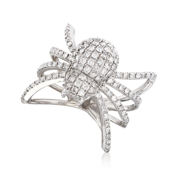 1.00 ct. t.w. Diamond Spider Ring in Sterling Silver