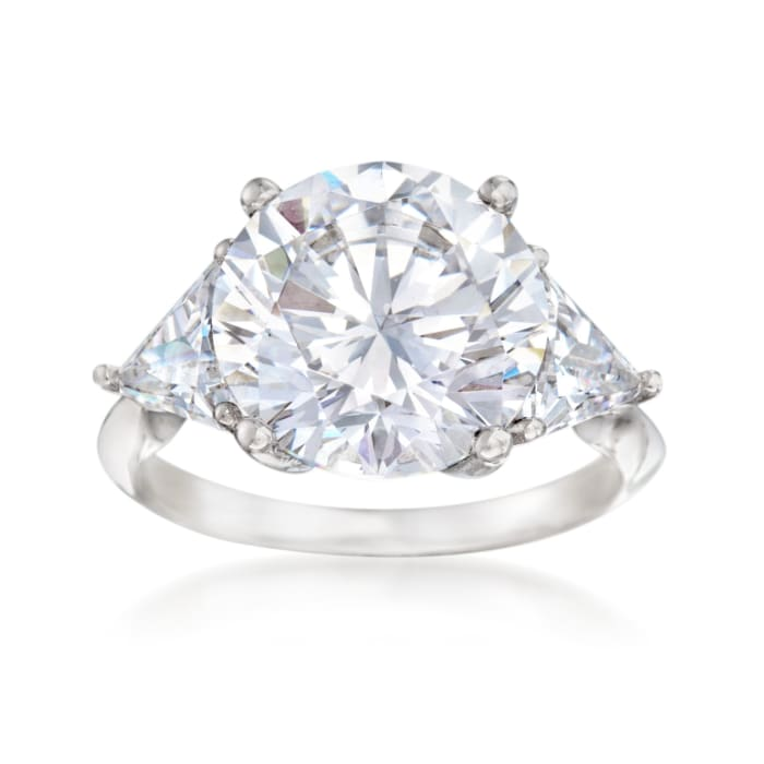 7.50 ct. t.w. CZ Ring in Sterling Silver