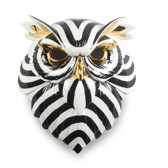 "Lladro ""Owl Mask"" Porcelain Figurine"