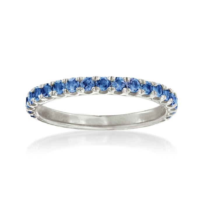 .60 ct. t.w. Sapphire Ring in Sterling Silver