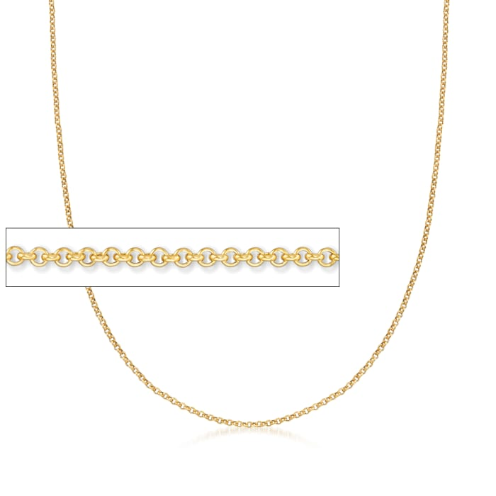 Italian 18kt Yellow Gold Cable-Link Chain Necklace