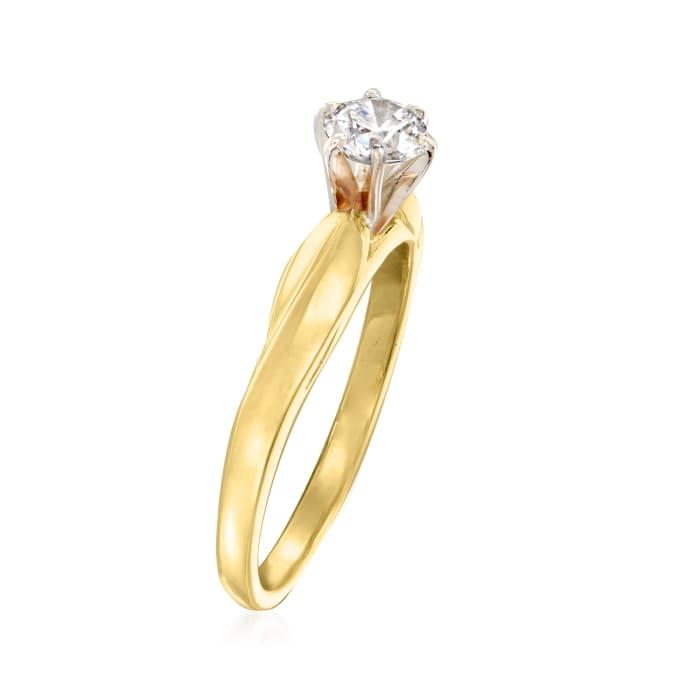 C. 1980 Vintage .35 Carat Diamond Ring in 14kt Yellow Gold
