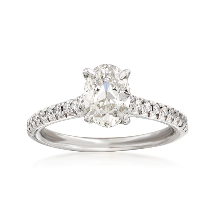 Henri Daussi 1.47 ct. t.w. Diamond Engagement Ring in 14kt White Gold