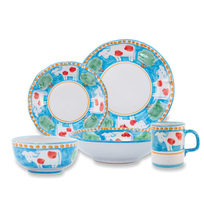 """Vietri """"Campagna Mucca"""" Earthenware Dinnerware from Italy"""