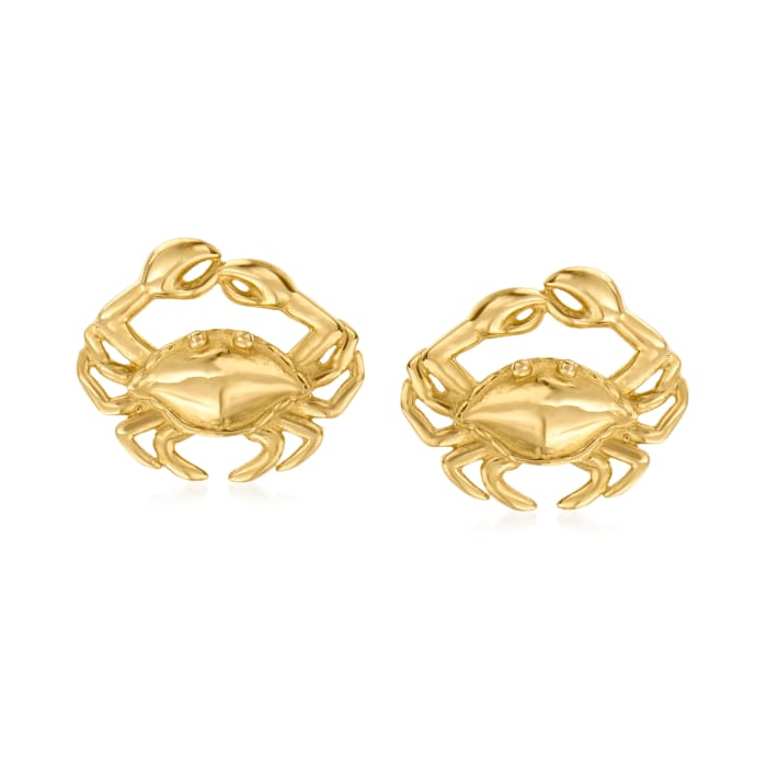 14kt Yellow Gold Crab Stud Earrings