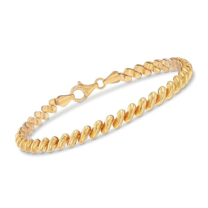 Italian 18kt Yellow Gold Over Sterling Silver San Marco Bracelet