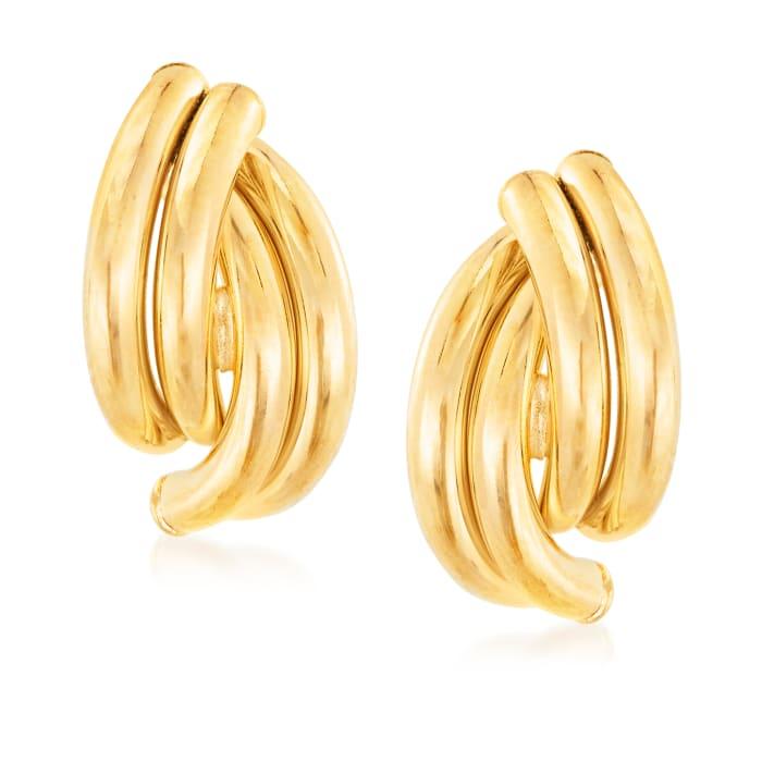 Italian 18kt Yellow Gold Earrings
