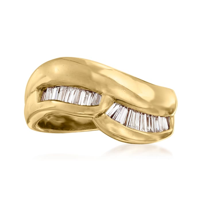 C. 1980 Vintage .75 ct. t.w. Baguette Diamond Ring in 18kt Yellow Gold