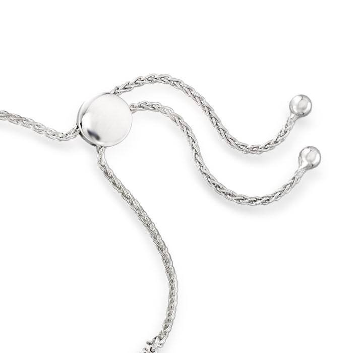 .50 ct. t.w. Diamond Open-Circle Bolo Bracelet in Sterling Silver
