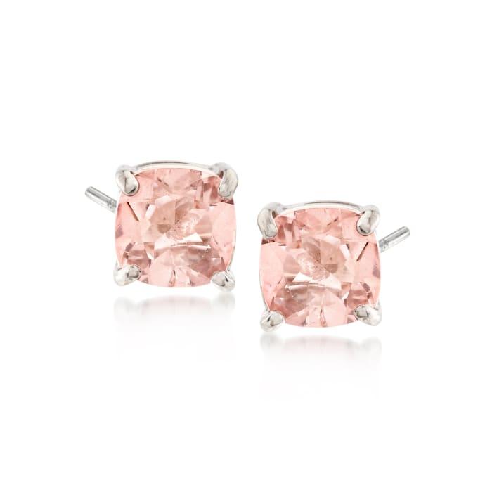 2.20 ct. t.w. Light Pink Topaz Stud Earrings in Sterling Silver