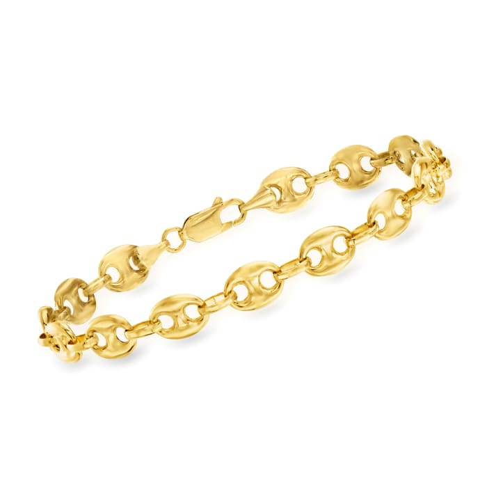 14kt Yellow Gold 7mm Marine-Link Bracelet