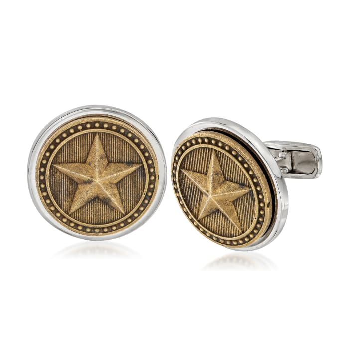 Men's Armored Star Coin Cuff Links