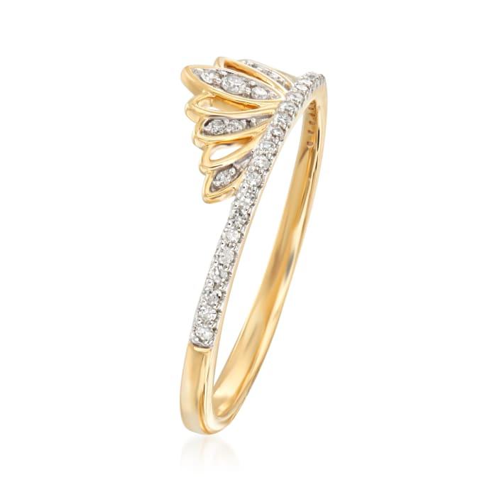 .15 ct. t.w. Diamond Tiara Ring in 14kt Yellow Gold