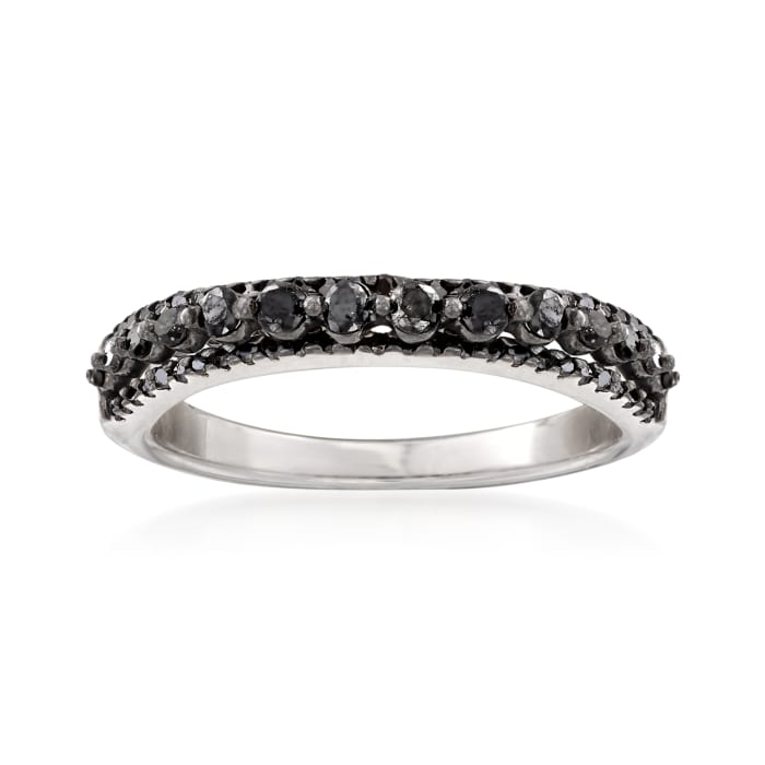 .41 ct. t.w. Diamond Three-Row Ring in Sterling Silver