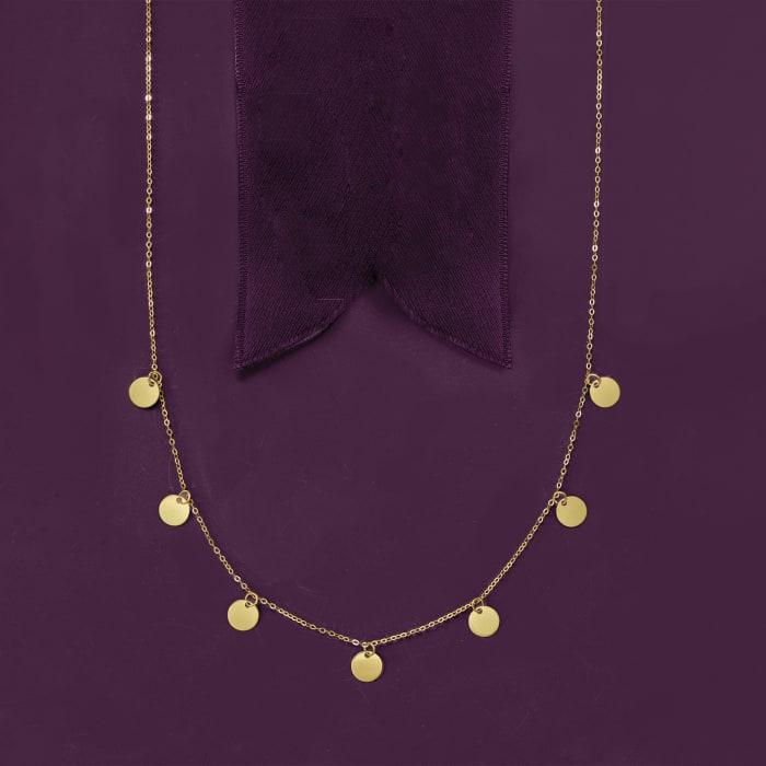 Italian 14kt Yellow Gold Multi-Circle Necklace