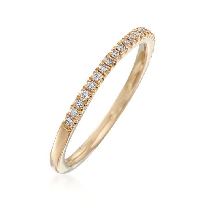 Henri Daussi .15 ct. t.w. Diamond Wedding Band in 18kt Yellow Gold