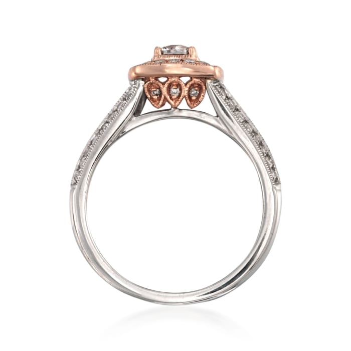 .88 ct. t.w. Diamond Engagement Ring in 14kt Two-Tone Gold
