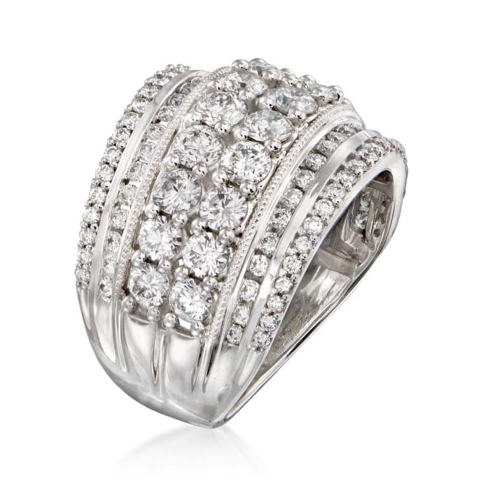 3.00 ct. t.w. Diamond Multi-Row Ring in 14kt White Gold