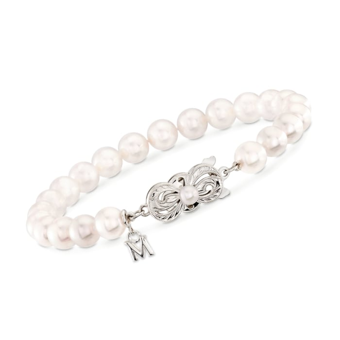 Mikimoto 6.5-7mm 'A' Akoya Pearl Bracelet in 18kt White Gold